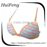High breathable cheap price nylon young girl sexy teen bra