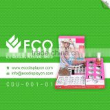 Custom Small Cosmetic/stationery/accessories Counter Display Stands With Cardboard Material