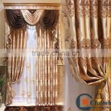 Luxury modern living room motorized drapes curtains