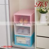 High quality sundries organizer plastic rack assembled cabinet storage drawer with wheels