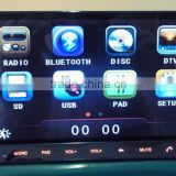 Hot-selling 2 din in-dash car dvd player car audio with 3G/WIFI, car Ipod, Android 4.0 OS,DV-Camera etc. for universal cars.