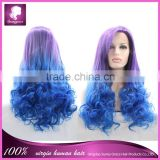 Very beautiful Wig- capillary prosthesis ombre color lace front synthetic wig with fringe