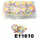 wholesale cute baby colored elastic hair ties with beads