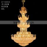 Luxury Empire Lighting Large Crystal Chandeliers for Hotels                                                                         Quality Choice