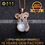 hot sale jewellery set 925 sterling silver 18K gold plated precious natural Moonstone Pendant necklace Factory wholesale