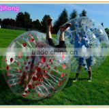 Amusement park toy inflatable belly bumper ball, soccer zorb ball, inflatable knock ball