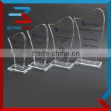 high quality crystal engraved trophy,fashion glass awards gifts                                                                         Quality Choice
