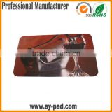 AY Natural Rubber And Polyester Fabric Table Top Mat, Customized Design Bar Runner For Promotion Events