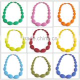 wholesale chunky bubblegum necklace,teething silicone necklace,silicone bead necklace manufactory