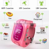 2016 GPS Kids Wristband Fitness Tracker GPS Navigation Bluetooth smart watch with pedometer