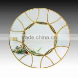 Round Classic Antique wall Mirror with Gold Painted Frame Hotel Mirror, Dressing Mirror