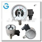 High quality ss explosion-proof type electric contact high pressure gauge with alarm                                                                         Quality Choice