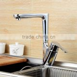QL-32519 New Deck Mounted Solid Brass Chrome pull out kitchen mixer Single Lever Kitchen Sink Mixer