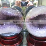big amethyst geodes ball shape for sale