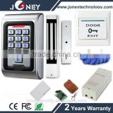 Standalone Metal keypad RFID access control kit set system with exit button,power, rfid card,magnetic lock