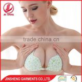 2016 High quality hot selling lady underwear half cup butterfly self sexy bra for women