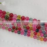 Wholesale 6MM & 8MM size nice rose color watermelon tourmaline sale natural rough tourmaline Beads Strands