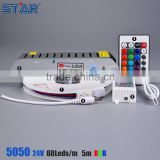 24v 60leds ip68 5050 waterproof rgb led rubber water stop strip