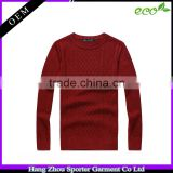 16FZCAS26 cable knitted cotton cashmere sweater men