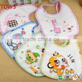2016 GEP Printed Technics and 100% Knitted Cotton EVC Plastic Material Waterproof Baby Bandana Drool Bibs