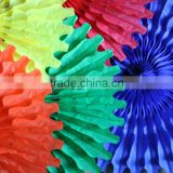 Paper Decoration Tissue Paper Fans Paper Tissue Giant Coloured Fan Decor pinwheel backdrop, cream, light pink, tissue paper fans