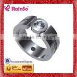 stainless steel ring terminal, class ring, infinity symbol ring