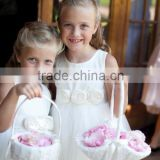 A-Line Customized Satin Organza Top Tank Flower Girl Dress Birthday Dress FGZ34 Baby Dress