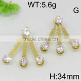 Appealing rhinestone gold filled peacock earring models