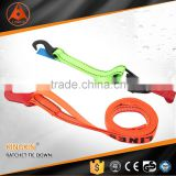 plastic S hook cargo lashing/ cargo lashing strap/ ratchet tie down with GS, CE, ISO Certificate