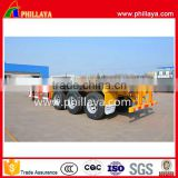 Leading factory 3 axle shipping Skeletal container trailer 20ft 40ft container trailer price for transport