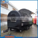 mobile food carts Mobile Stainless Steel Hot Dog Cart/concession trailer/towable food trailer for CE
