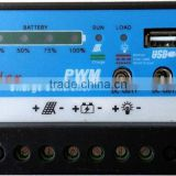 10A PWM Solar Charge Controller Regulator 12V with USB/12V pots and 4-power level display