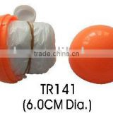 plastic ball with raincoat for outdoor