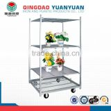 Factory supplied directly steel storage rack, iron flower plant pot, 5 tier metal shelving rack
