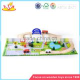 Wholesale high quality wooden desktop train track toy funny wooden desktop train track toy W04C006