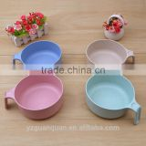 Yiwu High Quality new product customized Plastic Wheat Straw Rice Bowl with fork,chopsticks and spoon