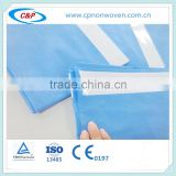 Disposable Surgical SMS Adhesive Side Drapes Blue