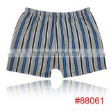 Fashion geometry stripe men underwear high quality bamboo fiber men boxer briefs