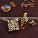 LSE856 men earrings with screw back rhodium plating brass