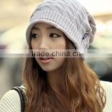 2016 new style Autumn and winter women 's wool cap sets of knitted hat wholesale