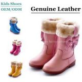 2014 High Quality New Design Genuine Leather  Children boots For Girls  Snow Boots China Factory