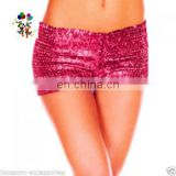 Burlesque Fancy Dress Sexy Girls Hot Pink Short Sequin Pants HPC-3026