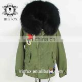Irisfox 2016 winter warm raccoon fur hooded coat