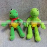 Cute mini plush toy green turtle keychain