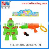 plastic outdoor robot backpack pumping water gun