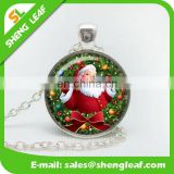 Hot Sale Amazon Crystal Santa Claus Christmas gifts retro gem necklace sweater chain accessories for wholesale