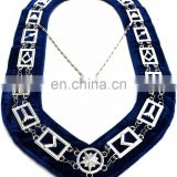 Masonic Regalia Master Mason Blue Lodge Silver-Blue Lodge officer Chain collar Silver