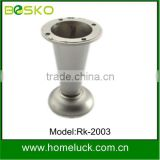 Custom special brushed rustless Metal sofa legs in furniture hardware