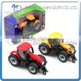 Mini Qute 1:32 kid Die Cast pull back alloy farmer tractor vehicle model car light music electronic educational toy NO.MQ 501