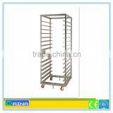 stainless steel bakery trolley, stainless steel baking trolley, bakery display stand rack